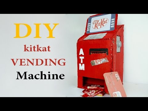 How to make kitkat vending machine diy | kitkat ATM machine at home | slime vending machine