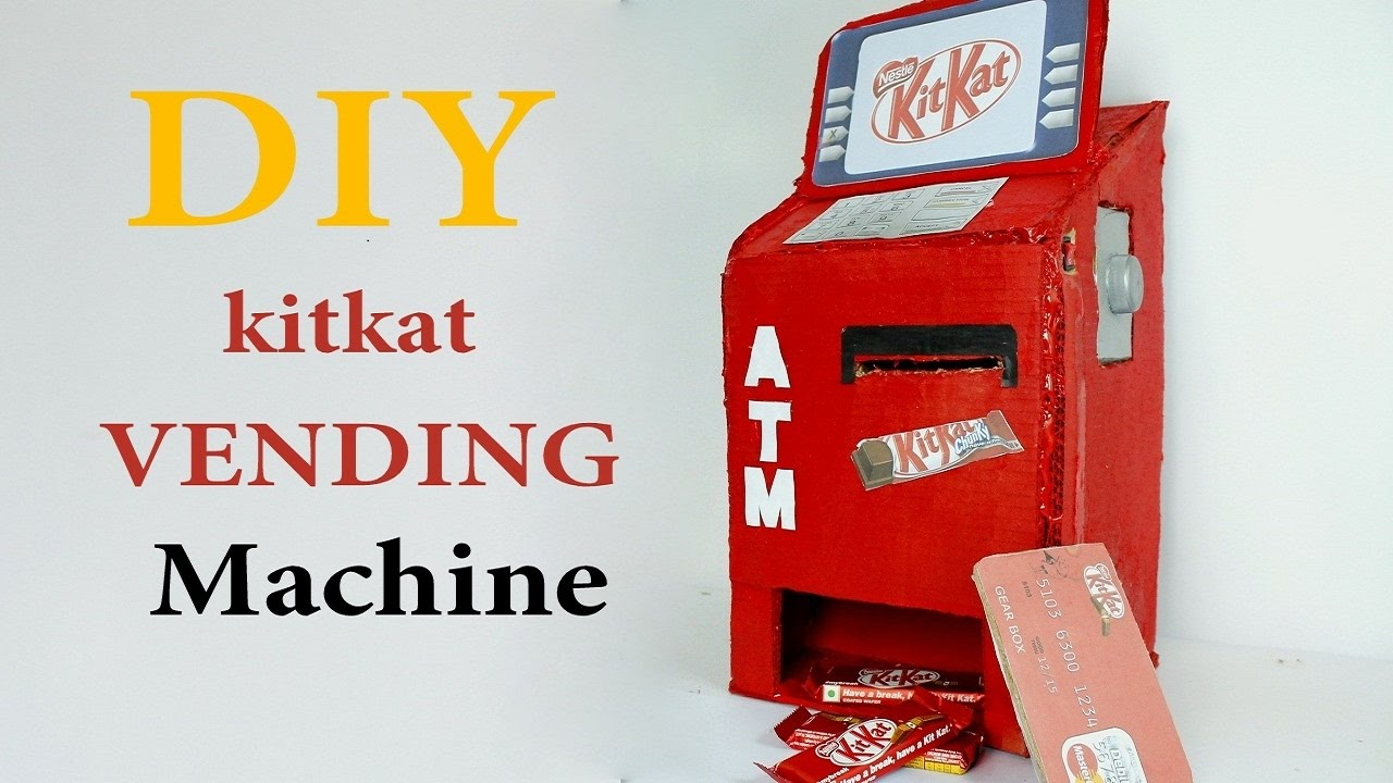 How To Make Kitkat Vending Machine Diy Kitkat Atm Machine At Home