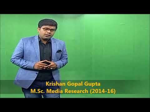 Admission Open 2018-20 in M.Sc. Media Research, MCNUJC Bhopal M.P.