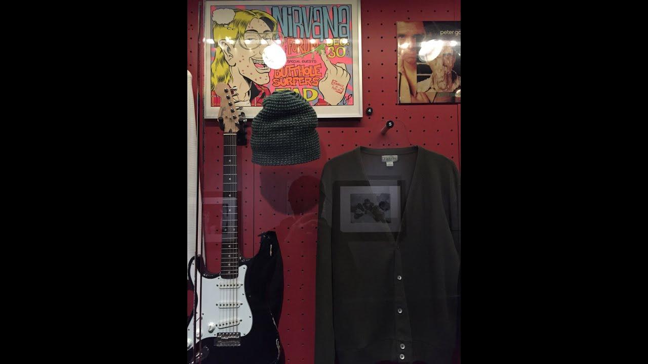Nirvana exhibit walkthrough - Rock n\' Roll Hall of Fame in Cleveland ...