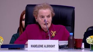 Madeleine Albright speaks candidly about migration - Migration Conference