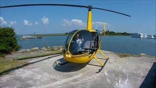 Helicopter Ride in a Robinson R44 -  Seafood Festival Morehead City, North Carolina - Oct 5, 2013