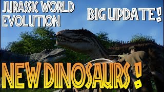 CARCHARODONTOSAURUS! New dinosaurs! Jurassic World Evolution Cretaceous Dinosaurs Expansion showcase