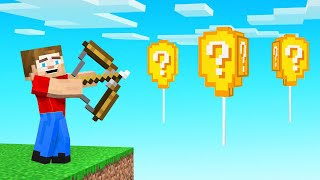 SHOOT LUCKY BLOCK BALLOONS = FUN! (Minecraft)