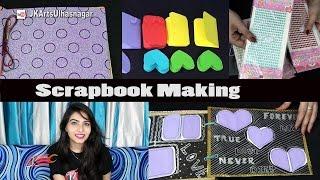 Scrapbook Making - 5 Bases, 26 Greeting Cards and Scrapbook Material and Tools   JK Arts 1144