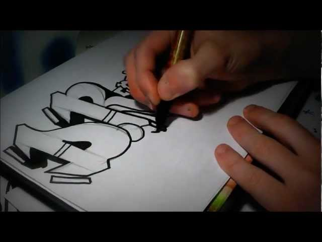 Graffiti Sur Papier 3D Apprendre Le Tag Sketch Action DR Crew Speed Art 2012 Nozer Travel Video