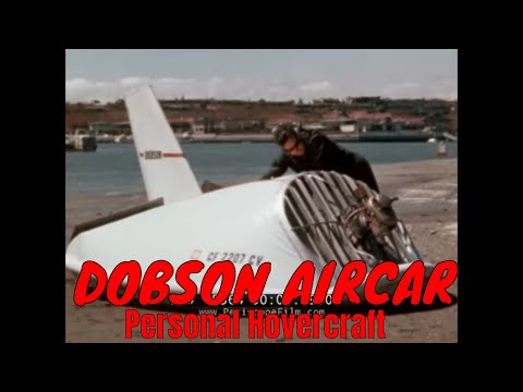 FRANKLIN DOBSON AIRCAR HOVERCRAFT  / GROUND EFFECT VEHICLE 1960s PROMO FILM (SILENT) 15364