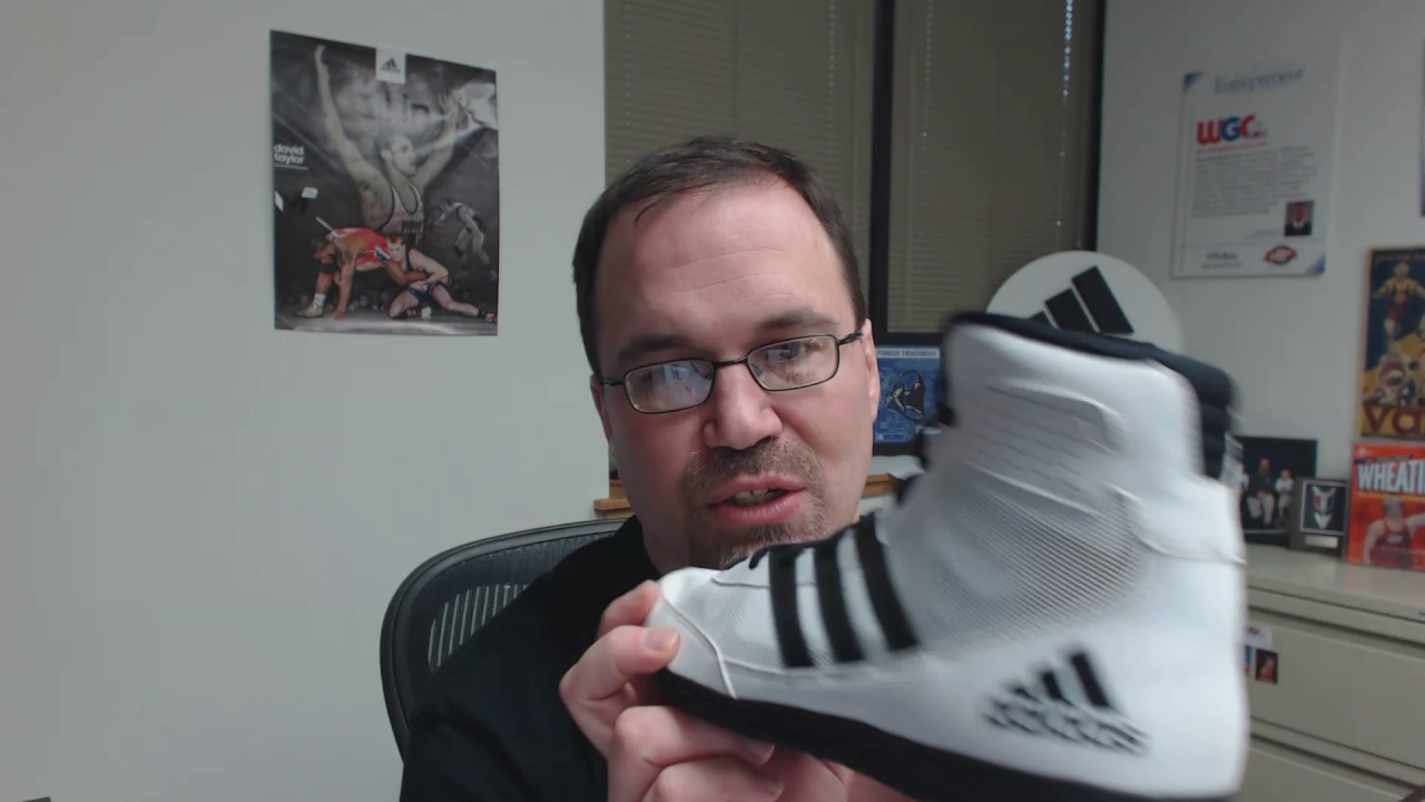 67c302875a46 Adidas David Taylor Magic Man - Mat Wizard Wrestling Shoes - YouTube