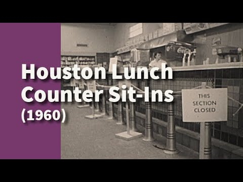 Houston Lunch Counter Sit-Ins | Segments from Lunch Counter Sit-Ins (1960)
