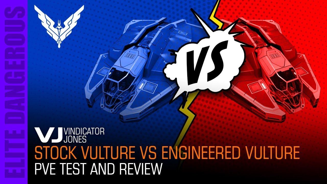 Stock Vulture vs Engineered Vulture PVE Test Elite Dangerous