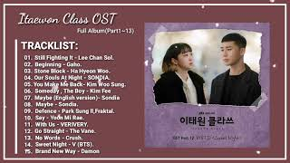 Ost Itaewon Class  Full Album Part1~13  || 이태원 클라쓰