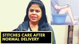 How to take care of stitches after normal delivery / how to heal fast after normal birth .