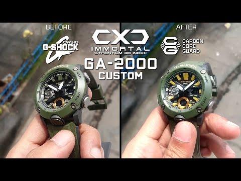 Casio G Shock Ga 2000 3adr Custom Mod 3D Strontium Index By CXD IMMORTAL