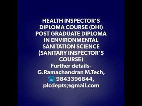Sanitary Inspector Health Science , Health inspector, Aviation, Paramedical, BioMedical, Tamilnadu