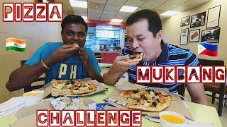 PIZZA MUKBANG CHALLENGE  BIMBO Vs. BAYAW KARTIK. Let see who win the prize. Gujarat India