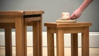 Salisbury Oak Nest Of Tables - Pinesolutions