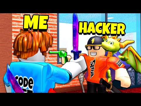 Playing a HACKER for MY ACCOUNT back.. (Roblox Murder Mystery 2)