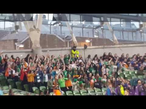 Republic of Ireland vs Iceland - Girls dancing