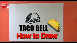 How to draw Taco Bell Logo easy 🌮