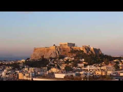 The view from Hotel Grande Bretagne Athens in timelapse mode