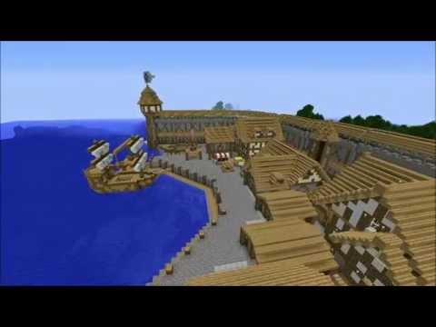 Creative Builds-`Harbor Way` (Minecraft Xbox360) RPG City) by