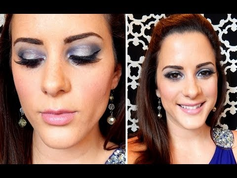 Homecoming / Prom Makeup Tutorial #2 (Purple & Silver)