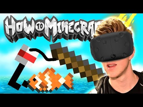 MINECRAFT FISHING IN VR! (How To Minecraft Season 4)