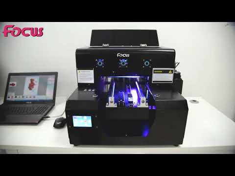 Focus inkjet SAPPHIRE JET X A4 size small uv flatbed printer with high configuration
