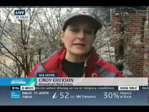 Cindy Erickson live on The Weather Channel