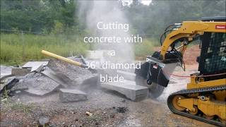 Cuts Inc. ES3600HF saw attachment test for concrete and copper cutting
