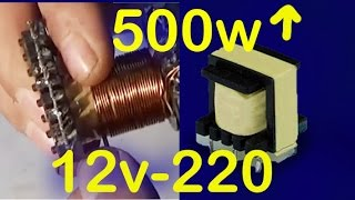 vuclip how to build a pulse transformer 500w, 12v to 220v inverter