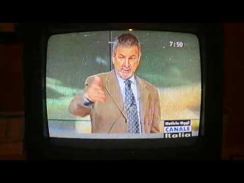 Frammento di 'Notizie Oggi' del 24 Gennaio 2005. Vito Monaco sgrida gli ospiti in studio