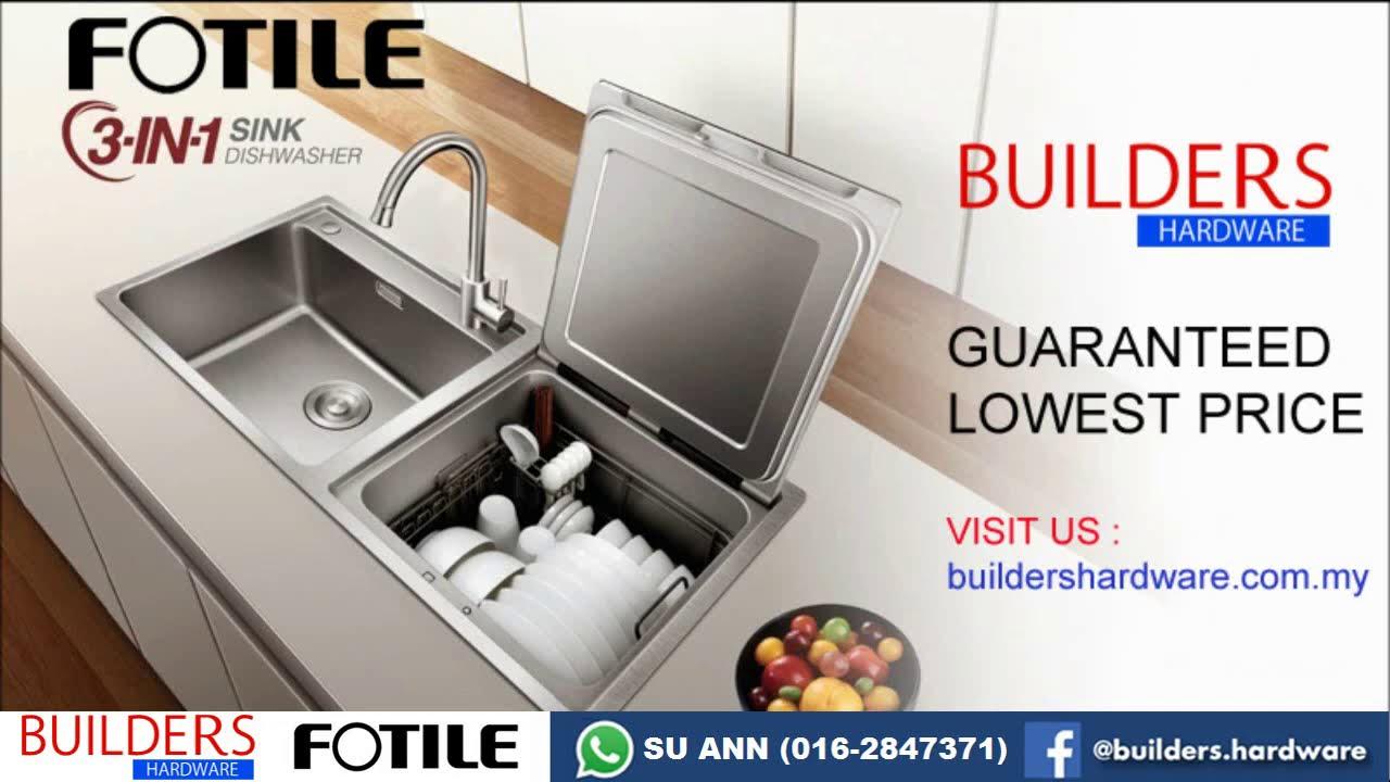 fotile sink dishwasher sd2f p1x demo