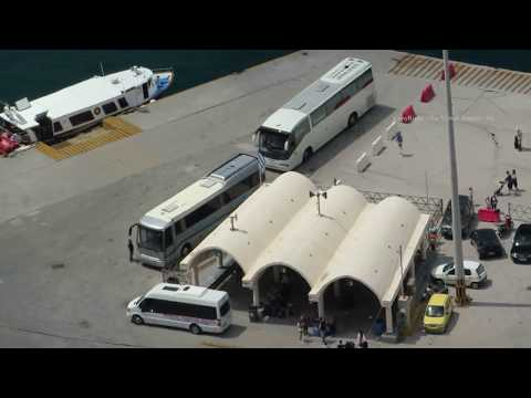 Santorini - Road to Fira's New Harbour and Ferry Port - The Greek Islands 2