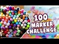 100 MARKER CHALLENGE || Using ALL of my COPIC MARKERS!
