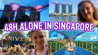 48H COMPLETELY ALONE IN SINGAPORE! The Food, The City & Universal Studios!