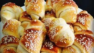 Сдобные домашние булочки,мягкие и вкусные  Простой рецепт