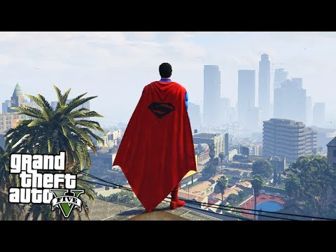GTA 5 моды: Супермен (SUPERMAN) в GTA 5 - GTA 5 SUPERMAN