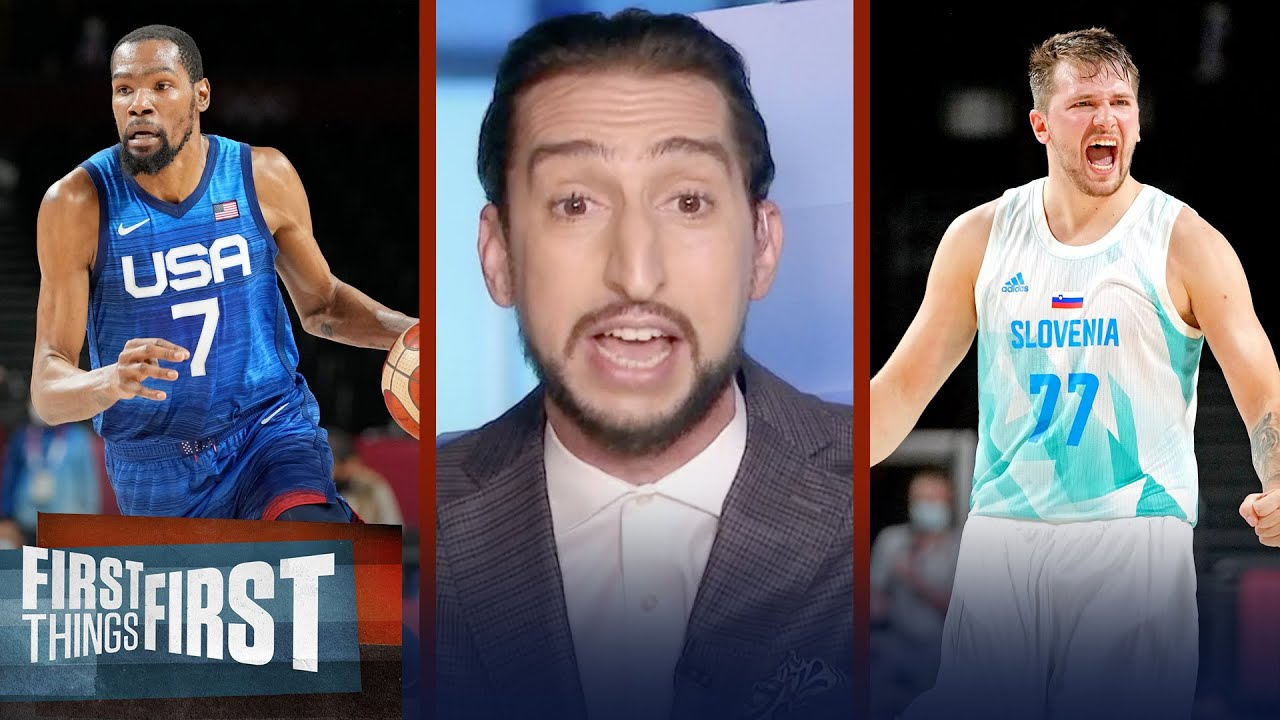 KD was sensational last night but I'm rooting for Luka to win gold — Nick | NBA | FIRST THINGS FIRST
