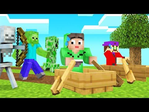 MINECRAFT But You're ALWAYS In A BOAT! (Crazy)