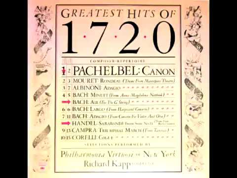 Greatest Hits of 1720 Full Album   Richard Kapp Conductor