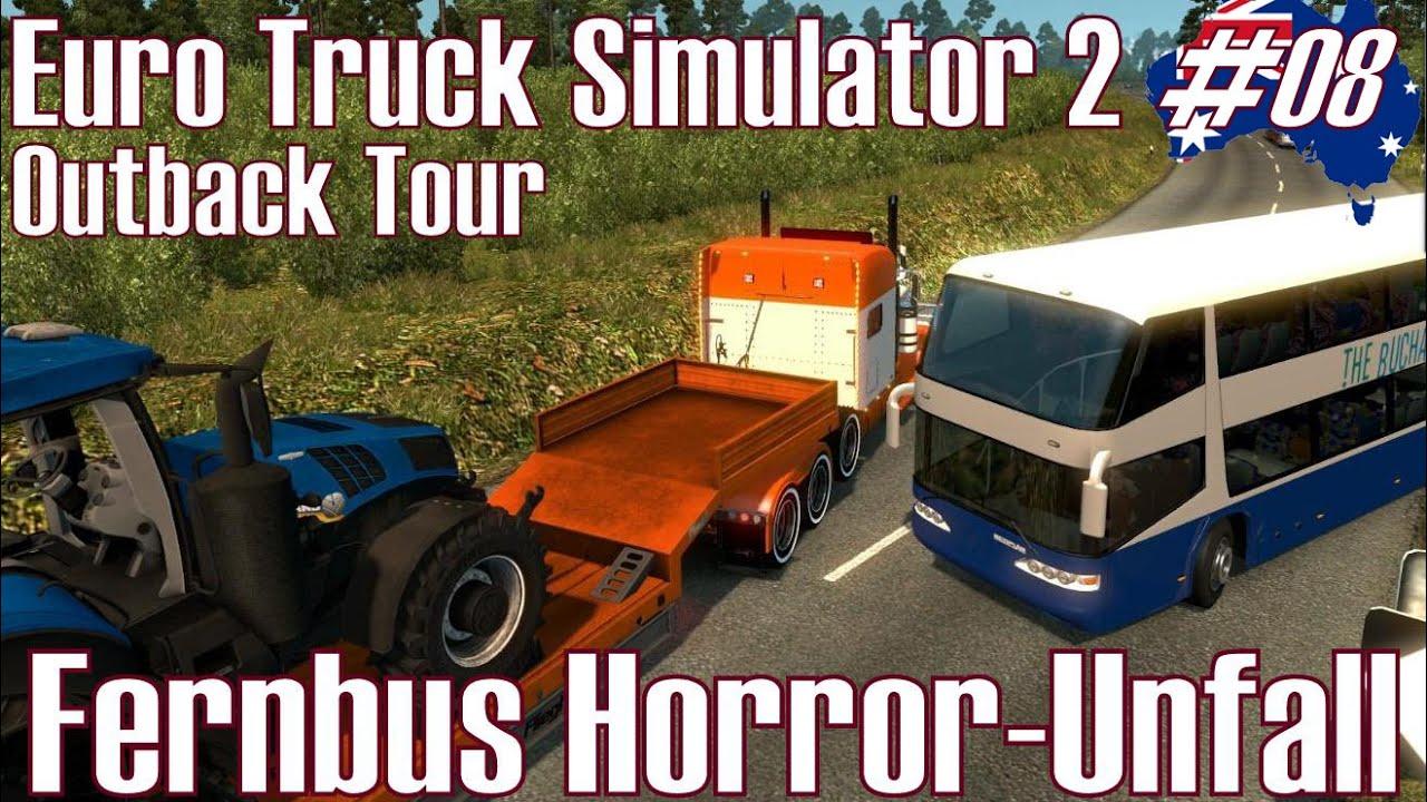 Euro Truck Simulator 2 ☆ Fernbus Horror-Unfall ☆ #08 Outback Tour ...