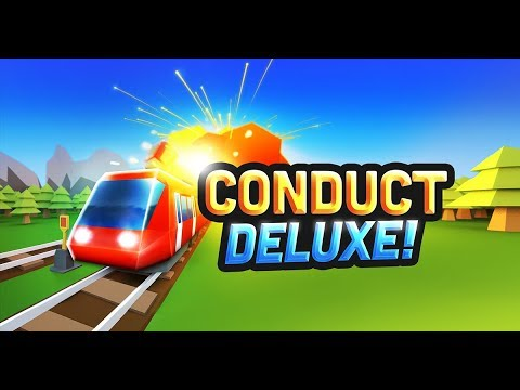 TRAINS AND CRASHES! -  Conduct Deluxe! Gameplay - Delivering Cartoon Passengers & Avoiding Crashes!