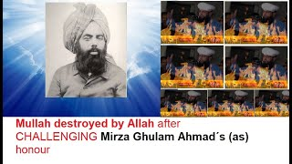 MOLANA MANZOOR AHMAD destroyed after CHALLENGING AHMADIYYA Mirza Ghulam Ahmad´s (as) honour