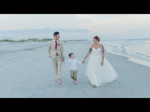 our-wedding-video!-|-the-most-beautiful-beach-wedding-|-shell-island,-wilmington,-north-carolina