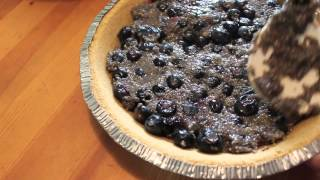 Diy Organic Blueberry Banana Chia Pie With Coconut Milk Topping