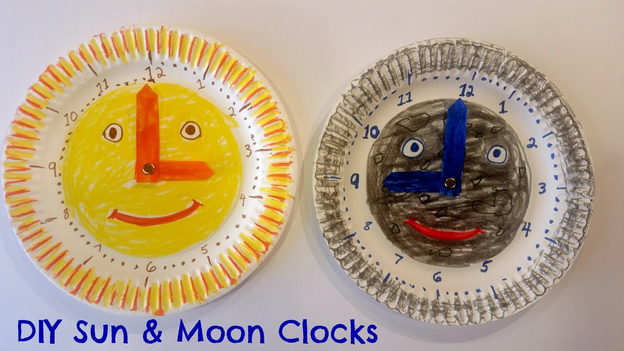 How to Make Easy Paper Plate Clock for Kids - Great Daylight Savings Time Craft - YouTube  sc 1 st  YouTube & How to Make Easy Paper Plate Clock for Kids - Great Daylight Savings ...