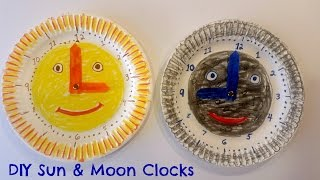 How to Make Easy Paper Plate Clock for Kids - Great Daylight Savings Time Craft