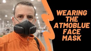 Wearing The ATMOBLUE Air Purification Face Mask For The First Time
