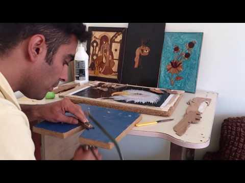 wood intrasia Eagle/ ahsabtan resim besiktas kartali / معرق چوب  عقاب/ وینه دار هه لو